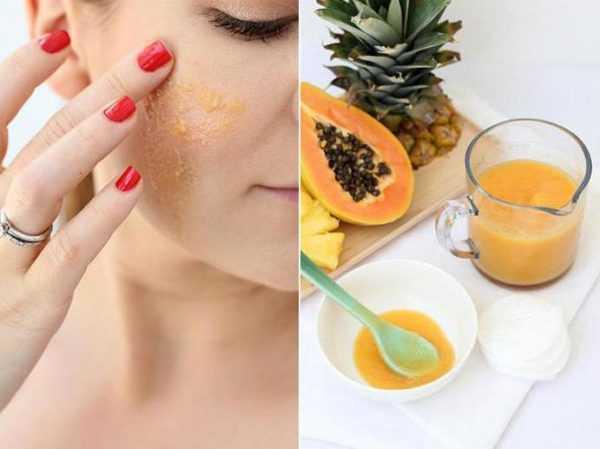 Энзимные пилинги при помощи сока, ананаса, папайи
