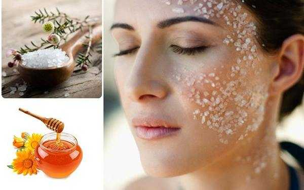 скраб из меда и соли для лица