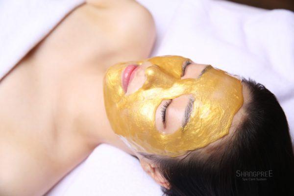 Золотая маска для лица