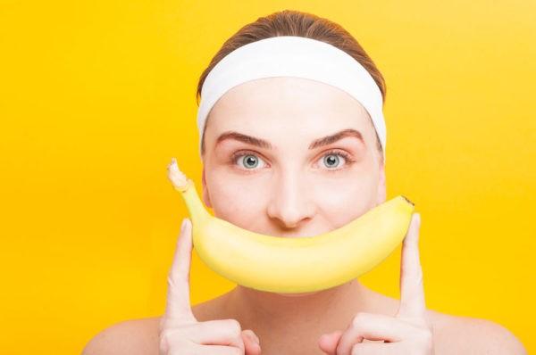 Маска из свежего банана